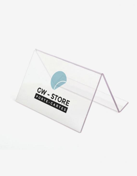 Porte-cartes 10x5,2x7,6 cm - Présentoir Z - 2 plis à chaud